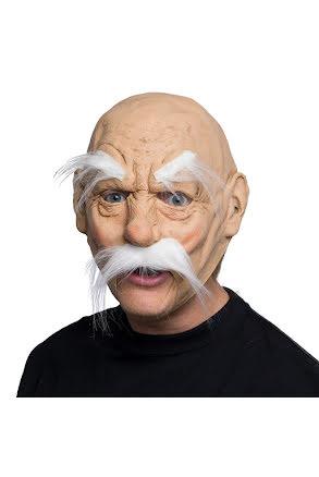Mask, Gammal man med vit mustasch