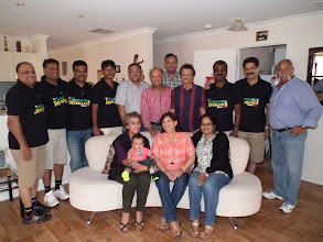 Photo: The Coimby boys with OGs at Dianne and Nigel's home