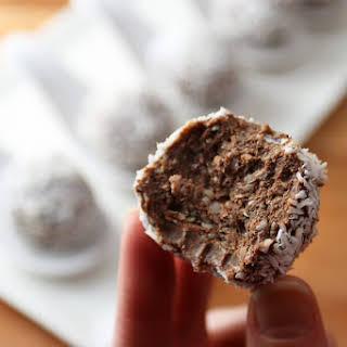 No Bake Chocolate Peanut Butter Fat Bombs.