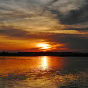 End to a beautiful day by Shirley Prothero - Landscapes Sunsets & Sunrises