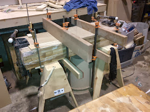 """Photo: MDF Slab blanks for Wheel Pant Mold. This is two sections, one 3"""" thick and one 4"""" thick. They are laminated together with WEST epoxy. The stack measures 7"""" tall, 16"""" wide, and 48"""" long. It weighs almost 165 pounds."""
