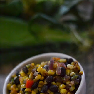Sauteed Corn with Black Beans and Bell Pepper Recipe