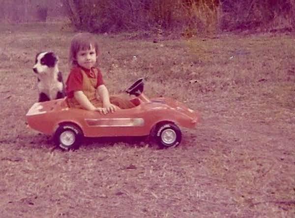 Krista In Her Red Corvette