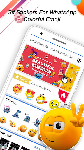 Download Gif Stickers For WhatsApp-Colorful Emoji 1.0.1 1