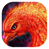 Fiery eagle live wallpaper