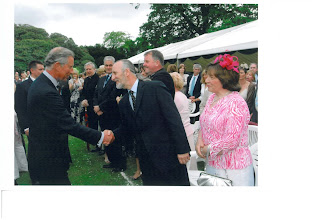 Photo: Michael and Rae welcomes his Royal Highness the Prince of Wales at the Hillsborough Garden Party