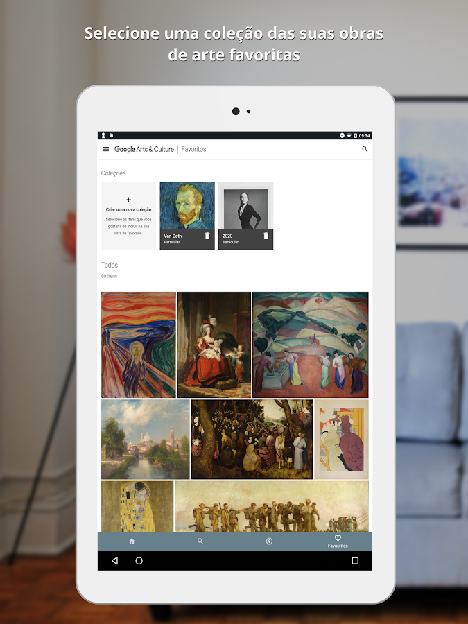 Google Arts & Culture: captura de tela