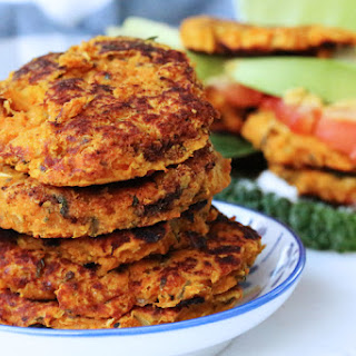 Sweet Potato Bean Burgers.