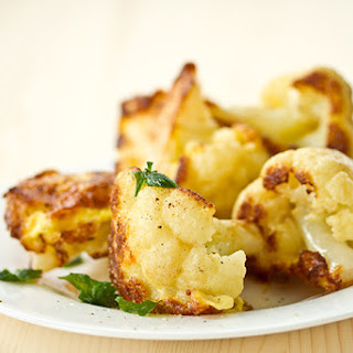 Oven Roasted Cauliflower with Turmeric and Cumin.