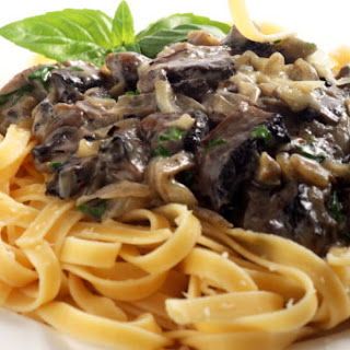 Creamy Fettucine with Mushrooms