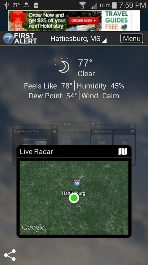 WDAM 7 Hattiesburg Weather- screenshot