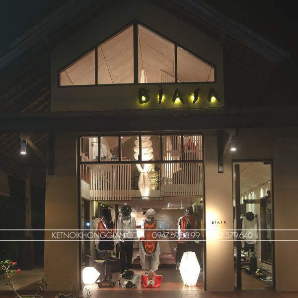thiết kế shop thời trang biasa 1