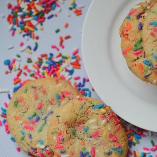 Snazzy Vanilla Rainbow Sprinkle Cookies