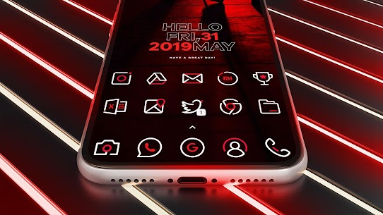 RedLine Icon Pack : LineX (MOD, Paid) v1.9 1