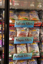 Photo: The freezers offer tons of products from fish....