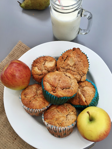 Breakfast Muffins With Apples And Oats
