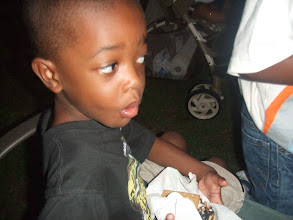 Photo: Keon shows off his smore