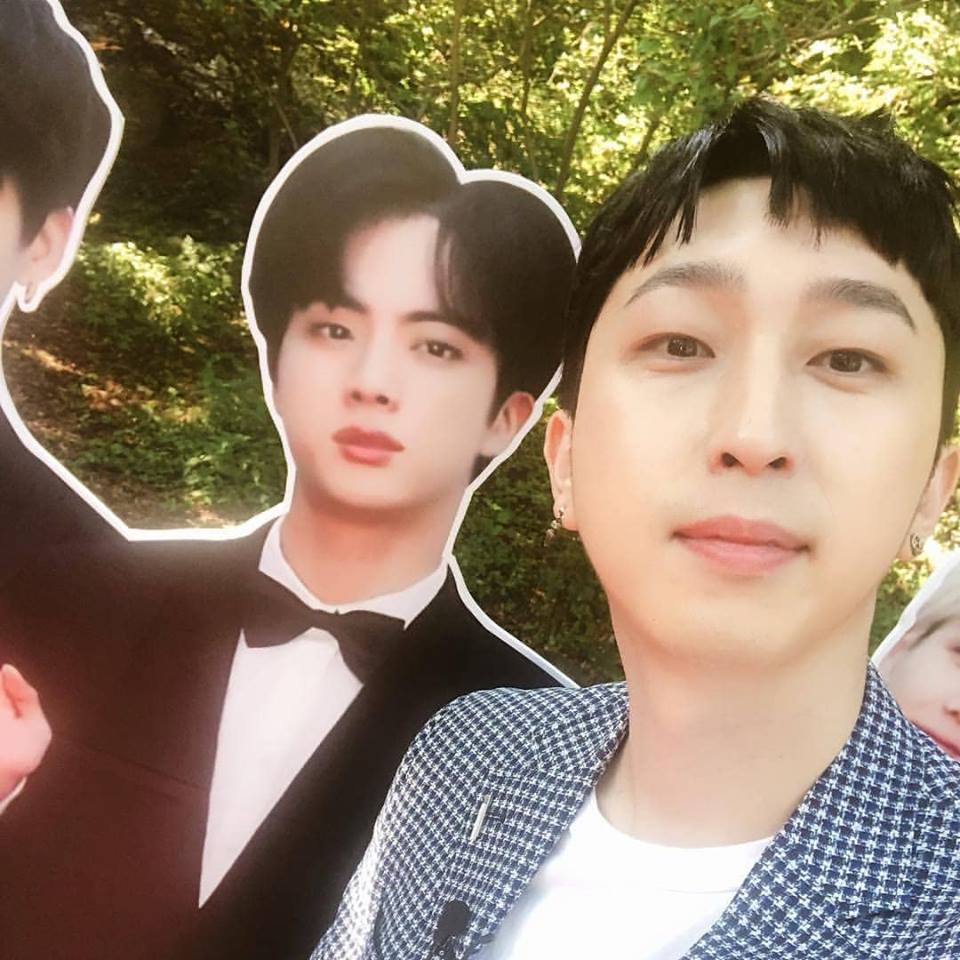 Sleepy meets BTS Jin's cutout
