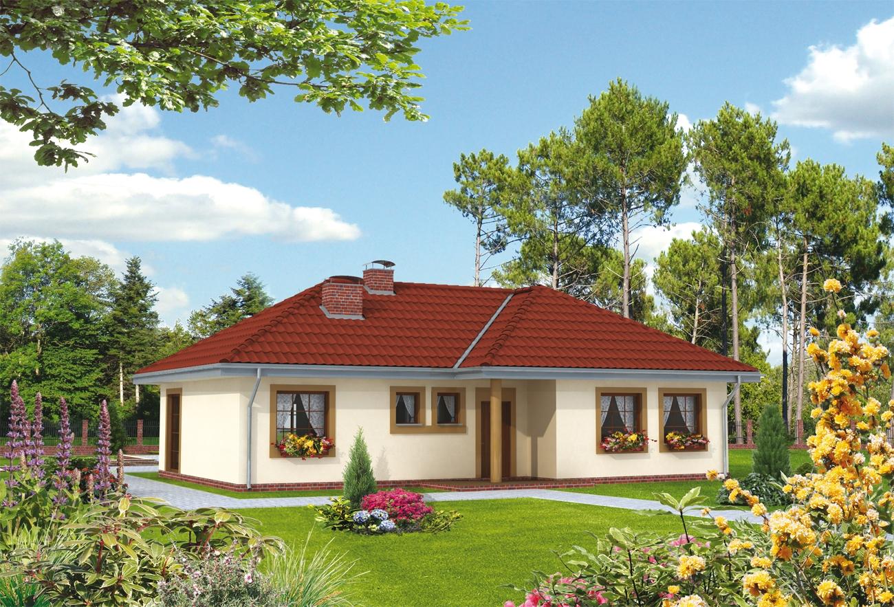 Projekt domu daniela tiu 456 for Casa in legno romania