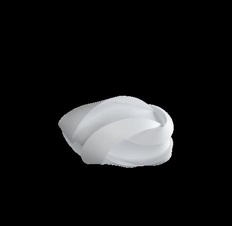 Ribbon white Ø 59,5 cm x 28 cm (Trasig förpackning)