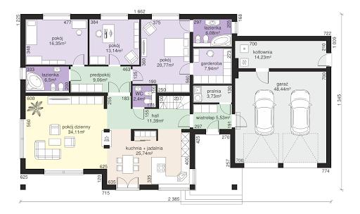 Dom przy Makowej 5 - Rzut parteru