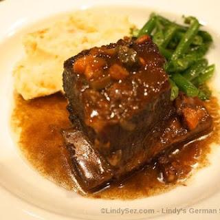 German Style Beef Short Ribs