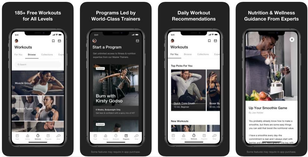 health and fitness tracker app development like Nike Training Club