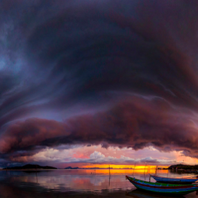 Reflected sky by Richard ten Brinke - Landscapes Waterscapes