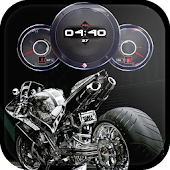Super Bikes Clock Wallpaper HD