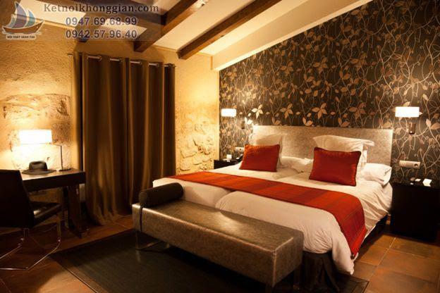 thiết kế phòng ngủ tránh màu tối u ám