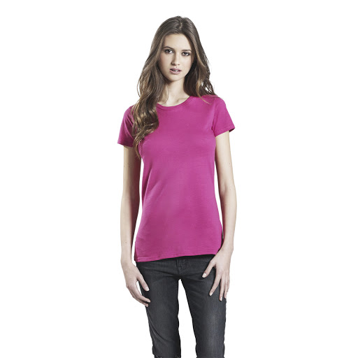 Women's Slim Fit Organic T-Shirt - Hot Pink