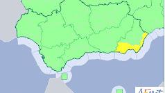 Sólo la costa almeriense está en alerta este martes.