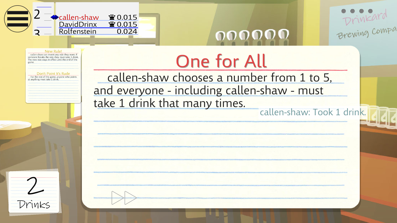 Drinkards - The Drinking Game- screenshot