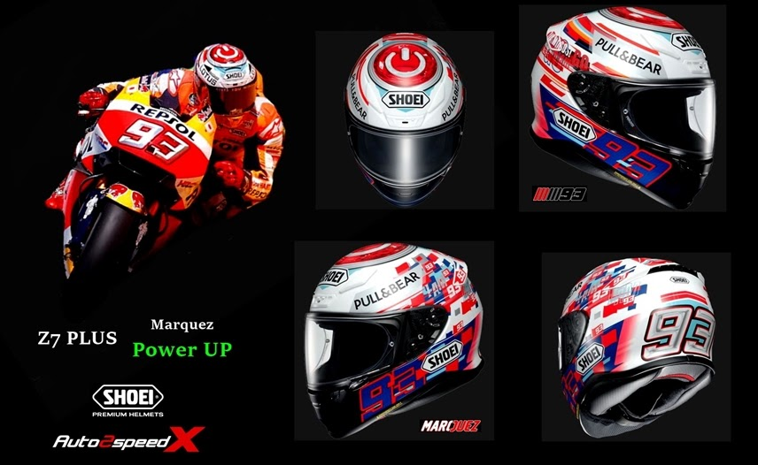 SHOEI HELMET Z7 Marquez Power UP