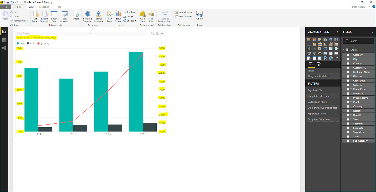Dual Axis Chart in Microsoft Power BI - Step By Step 34