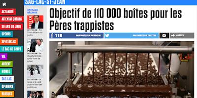 Objectif de 110 000 boîtes pour les Pères Trappistes Journal de Québec