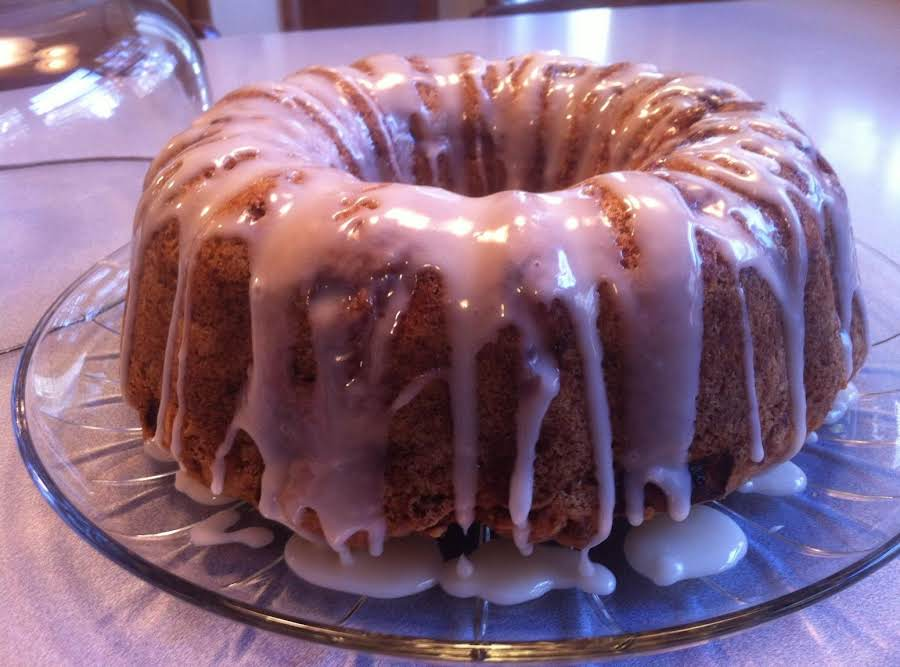 Fresh Apple Cake With Honey Glaze Recipe Just A Pinch Recipes