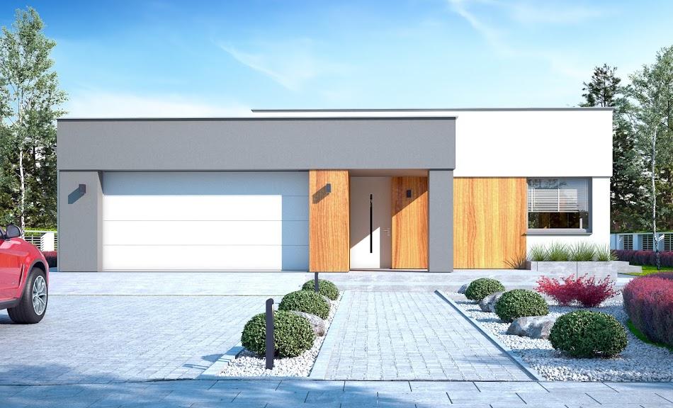 Wizualizacja projektu tygodnia - Bursztyn III z garażem 2-st. A (TSE-884)