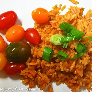 Mexican Rice & Tequila Tomatoes.