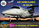 Now Book Affordable Commercial Charter Air Ambulance in Delhi by King