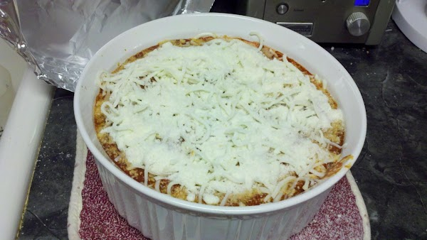 Bake about 40-45 minutes, until the pasta is tender. Uncover casserole and top with...