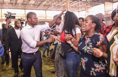 Watch Bushiri Makes Congregants Anoint Themselves With Oil