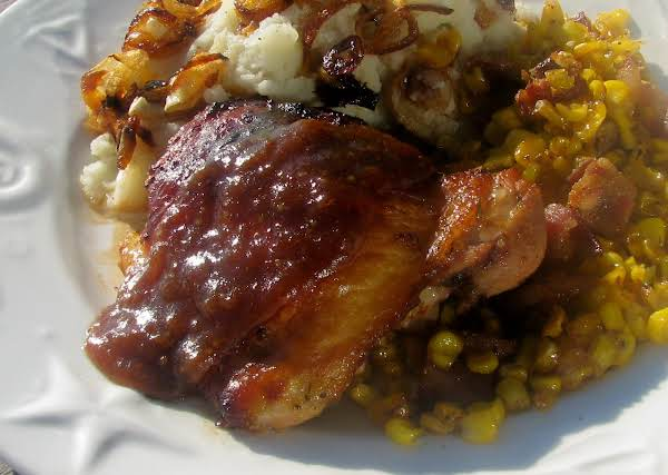 Marinated Chicken Thighs With Tangy Apricot Glaze