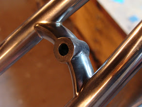 Photo: These cast stainless bridges are a PITA to miter, but they do look pretty sweet once they're brazed in neatly.