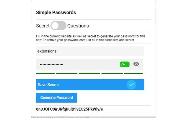 Simple Passwords