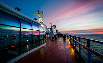 Photo: Aboard the Disney Ship at sunset