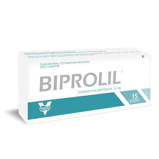 Bisoprolol Biprolil 2,5mg x 15 Comprimidos