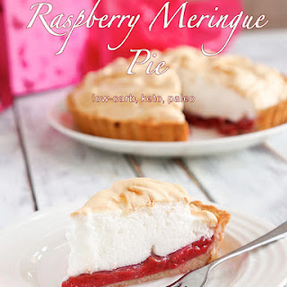 Low-Carb Raspberry Meringue Pie