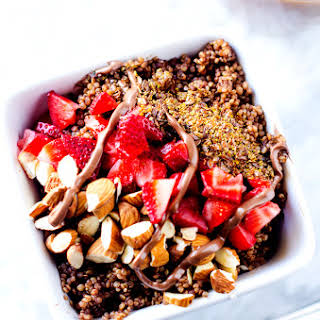 Leaner Chocolate Quinoa Breakfast Bowl.