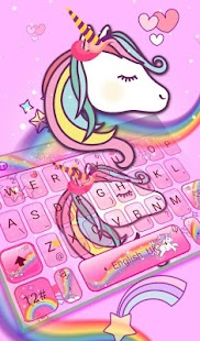 Cute Pink Unicorn Keyboard Theme - náhled